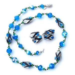 Vintage Necklace Blue VENDOME Necklace Set